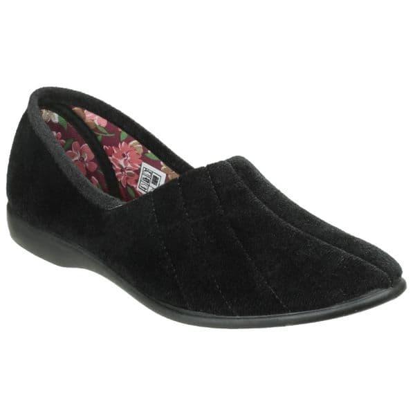 GBS Audrey Slipper Classic Ladies Slippers Black
